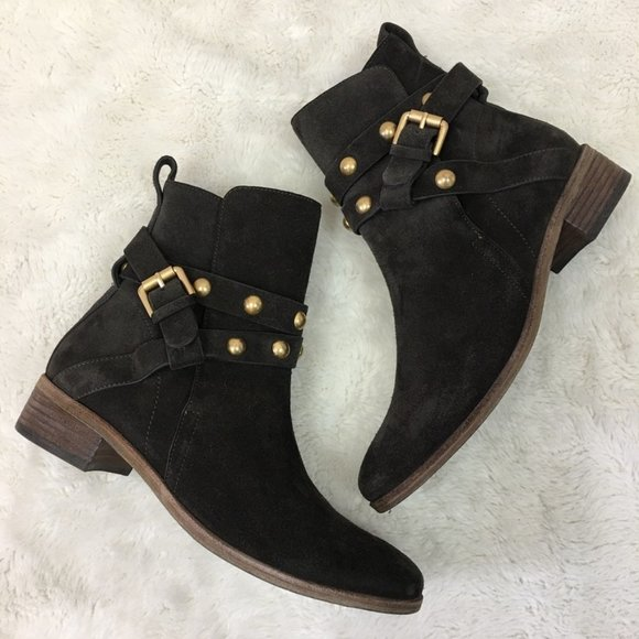 See By Chloe Shoes - See by Chloe Janis Brown Suede Studded Booties 38